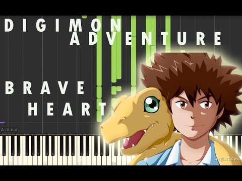 PIANO COVER DIGIMON BRAVE HEART + MIDI