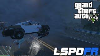 GTA 5 LSPDFR Police Mod Day 46   Tornado Mod Destroys Los Santos During A Stormy Night City Patrol