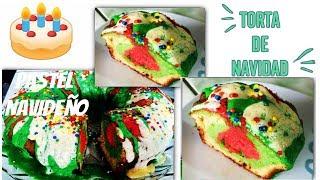 Pastel o Torta Navideña super facil y delicioso (christmas cake) - malir15 Thumbnail