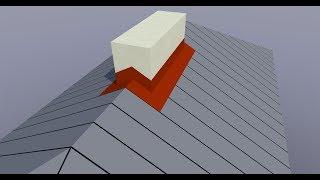 ArCADia Architektura - Obróbki blacharskie komina 2, jeszcze raz
