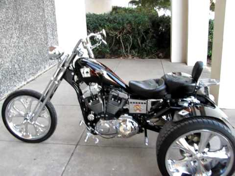 sportster trike jockey shift foot clutch short shot exhaust youtube. Black Bedroom Furniture Sets. Home Design Ideas