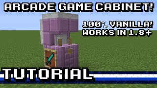 Minecraft: Retro Arcade Game Cabinet! [Tutorial]