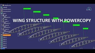 Wing Structure with POWERCOPY in Catia v5