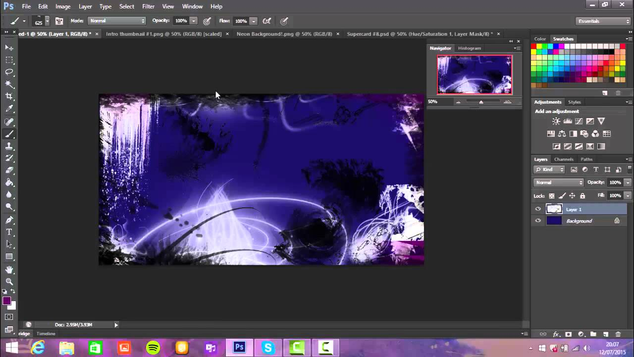 How to make cool Thumbnail or background #2 - YouTube