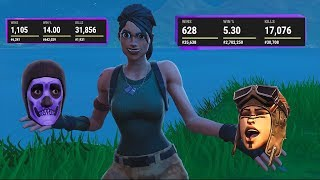 😰📝I show the STATS of every NO SKIN of the MICH KILLT! Fortnite English | Simex Fortnite