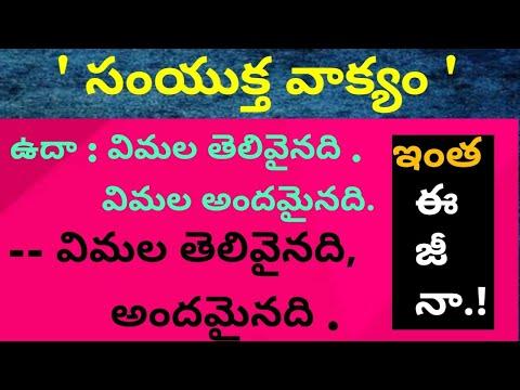Samyuktha vakyalu#సంయుక్త వాక్యాలు#TET#DSC#Setty peeraiah#క్రియా  రూపాలు#atelugu grammar