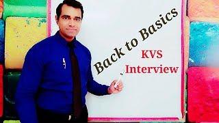 Back to Basic in KVS : Back to basics Education