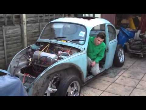 Vw Beetle Test >> My first test of air ride beetle vw - YouTube