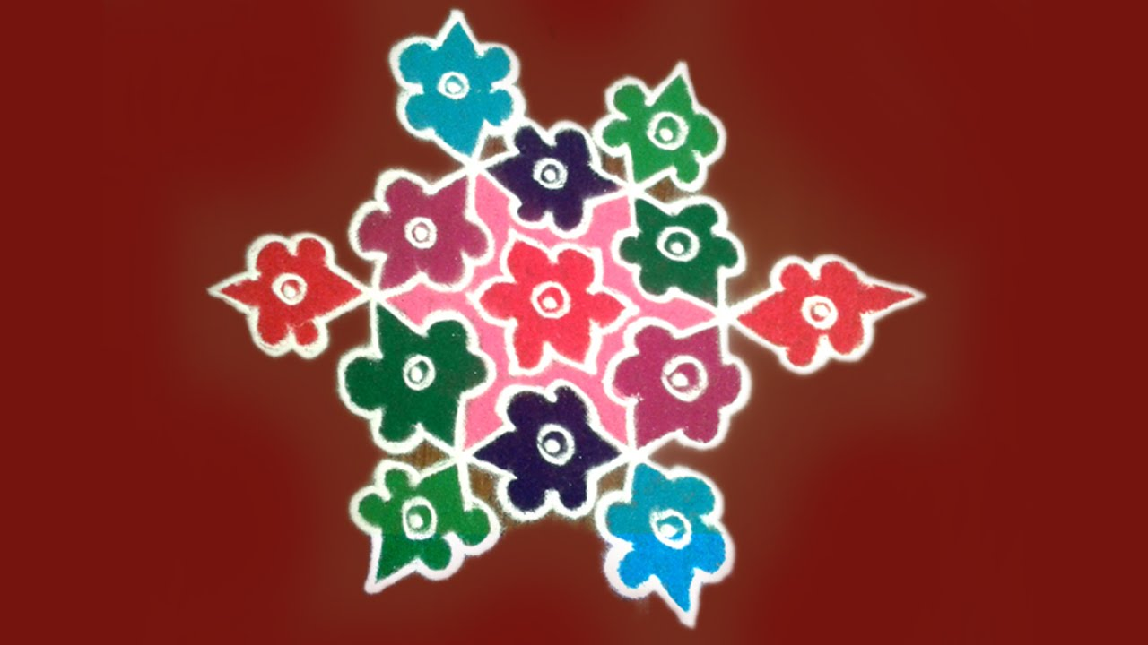 latest rangoli designs with dots for diwali youtube