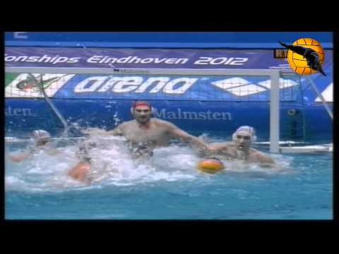 Serbia 9 Montenegro 8 Gold Game European Champs. Eindhoven 2012 29.1.12 water polo