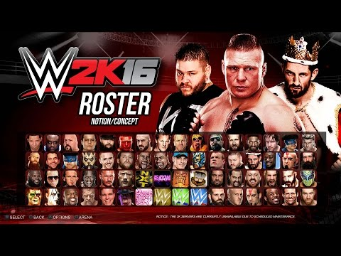 WWE 2K16 Roster - WCW, ECW, NXT, Divas, Legends! - Biggest Ever! (PS4 Notion)