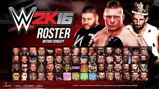 WWE 2K16 Roster - WCW, ECW, NXT, Divas, Legends! - Biggest Ever! (PS4 Concept/Notion)