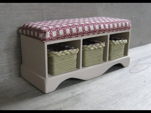 112th Scale Dolls House Storage Bench with Baskets Tutorial Part One