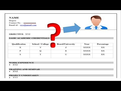 HOW TO ADD PHOTO IN RESUME OR CV IN MICROSOFT WORD DOCUMENT    WINDOWS 10 / 8 / 7 EASY TUTORIAL   
