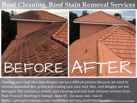 Roof Cleaning Services in Raleigh Apex NC by Peak Pressure Washing – Can You Pressure Wash A Shingle Roof