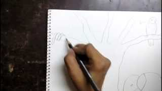 How to draw a jungle scene for kids