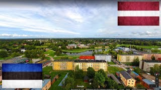 Латвия и Эстония. Сравнение. Валка - Валга.