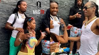 Jacquees & Dreezy All Boo'd Up After 50 Cent Tycoon Party! 😍