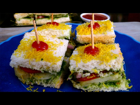 Bombay Sandwich Recipe in Hindi - बॉम्बे सैंडविच रेसिपी - Bombay Veg Sandwich Recipe in Hindi