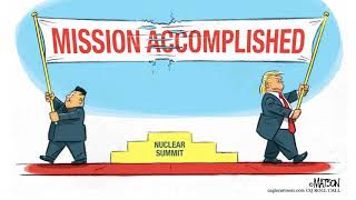 7 scathingly hilarious cartoons about the Trump-Kim summit