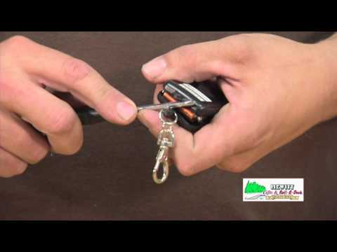 Battery replacement in a Hewitt Black key fob