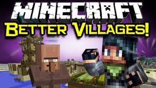 Minecraft VILLAGE-UP MOD Spotlight! - Better NPC Villages! (Minecraft Mod Showcase)