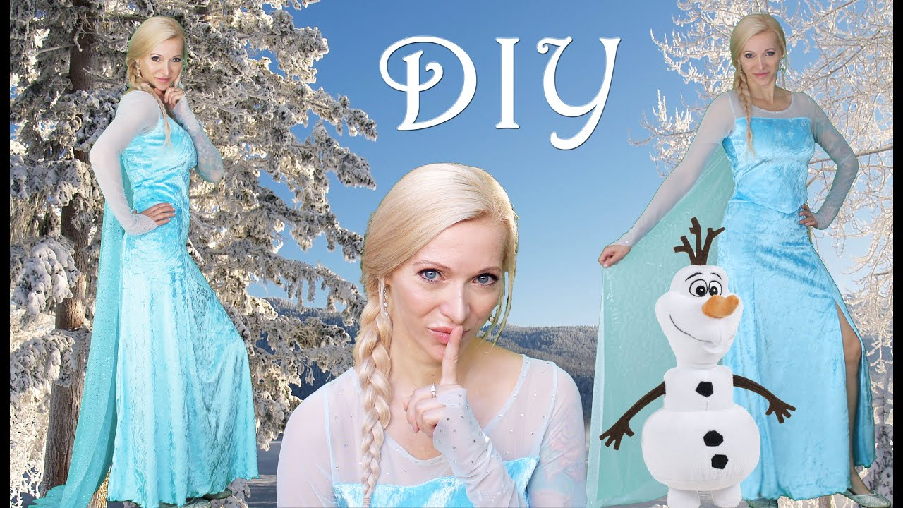 DIY Elsa Costume | Halloween Costume | Kids u0026 Adults  sc 1 st  YouTube : homemade elsa costume  - Germanpascual.Com