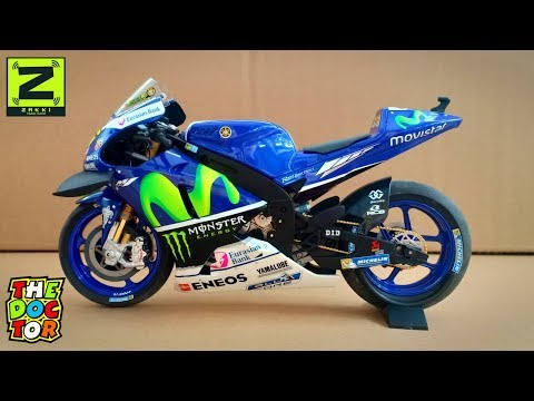 Minichamps - Yamaha YZR-M1, Valentino Rossi, Movistar Yamaha Winner Catalunya 2016, Skala 1/12
