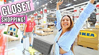 BUYING MY DREAM CLOSET!🏠 Ikea moving in vlog hehehe.