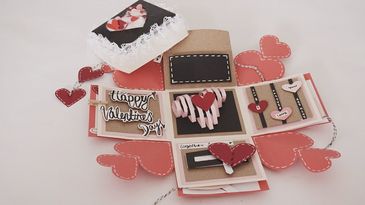 Valentines Day Exploding Box Card Full Tutorial Youtube