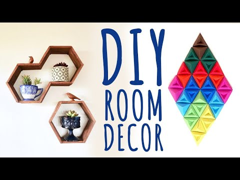 DIY Room Decor & Organization For 2017 - EASY & INEXPENSIVE Ideas! #02