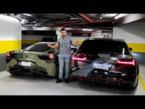 Un de mes ABONNÉS découvre ma RS6, C63S AMG, F12, et 458 ITALIA !!