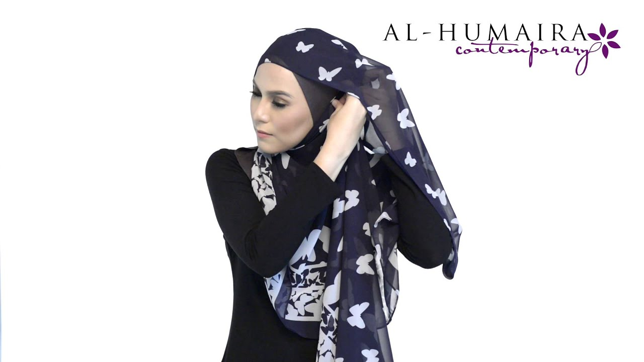 Lanaa shawl styling tutorial by al-humaira contemporary youtube.