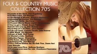 FOLK ROCK AND COUNTRY COLLECTION 70'S HQ AUDIO