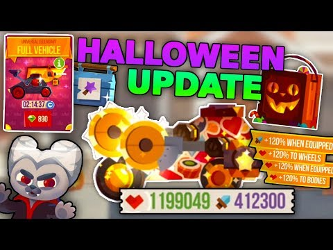 NEW HALLOWEEN UPDATE - MAXING A MACHINE & NEW BOXES, MAGIC TOOLBOX C.A.T.S: Crash Arena Turbo Stars