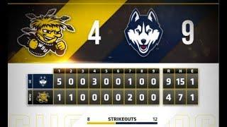 UConn Baseball Highlights v. Wichita State 04/13/2018 (Game 2)