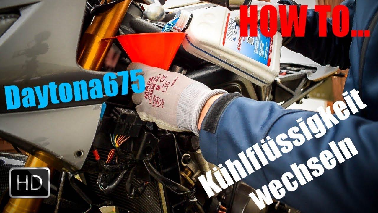 Kühlflüssigkeit Wechseln Triumph Daytona675 Wheelerz Schraubt