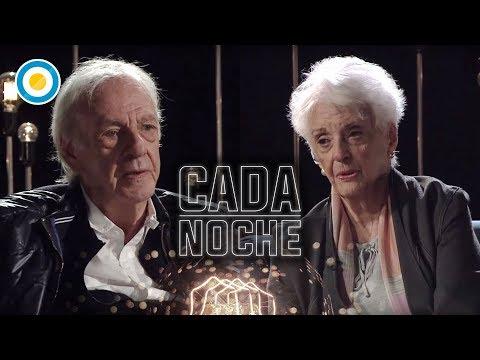 César Luis Menotti junto a Graciela Fernández Meijide en Cada Noche