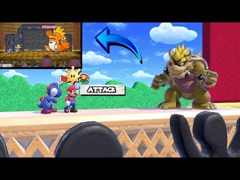 Smash Ultimate- Paper Mario TTYD, Macho Grubba Fight!