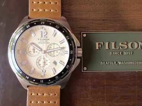 Filson The Journeyman Chrono 44mm watch by Shinola in Detroit