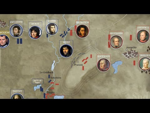 La bataille d'Austerlitz en animation vidéo