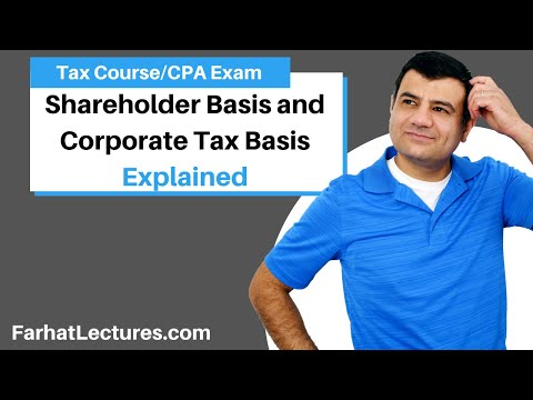 shareholder basis and corporate tax basis -CPA exam regulation REG ch 18 part 3