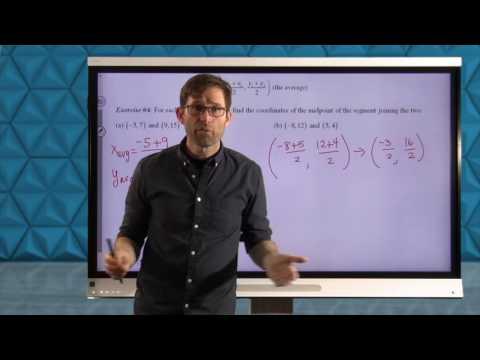 Common Core Geometry.Unit #5.Lesson #8.The Midpoint Formula