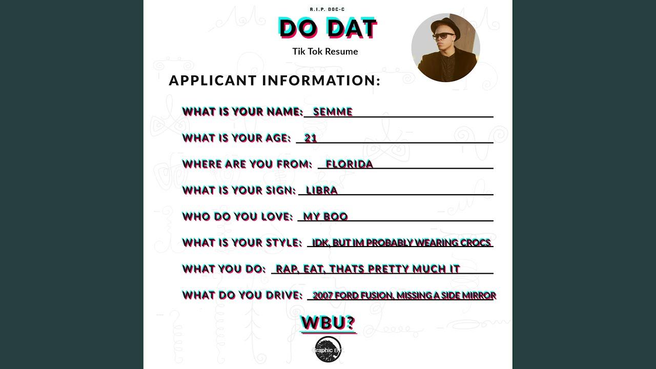 Do Dat (Tik Tok Resume) - YouTube