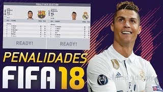 ANALISANDO AS PENALIDADES NO FIFA 18!