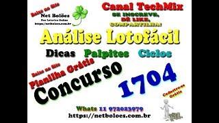 Análise, Dica, Palpite Lotofácil 1704   Curta Nossa Página no Facebook
