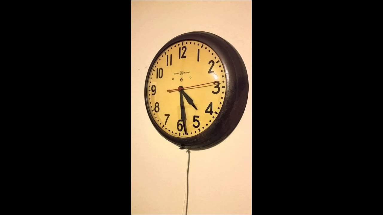 1930 S General Electric Telechron Wall Clock Youtube