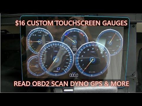 EZ DIY Tesla Touchscreen Gauges + GPS DYNO & MORE