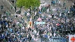 Vancouver Stanley Cup Riot - First Video of Riot Posted On Youtube Showing Starting Moments - CBC