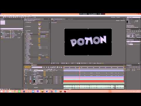 How to Make a sync intro With After effects And Cinema 4D (English) 200 sub special